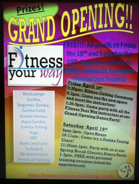 Fitness Your Way Studio Grand Opening!!!